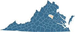 Map of Louisa County